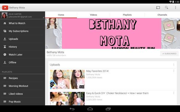 youtube-uygulaması