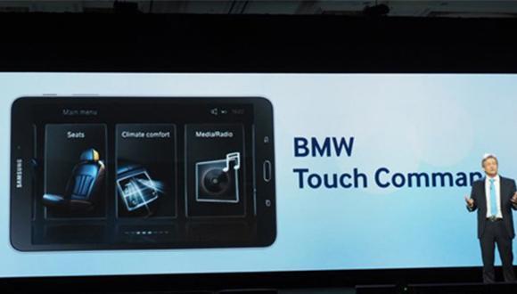 bmw samsung tablet