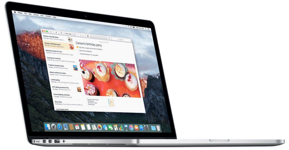OS X El Capitan mac os
