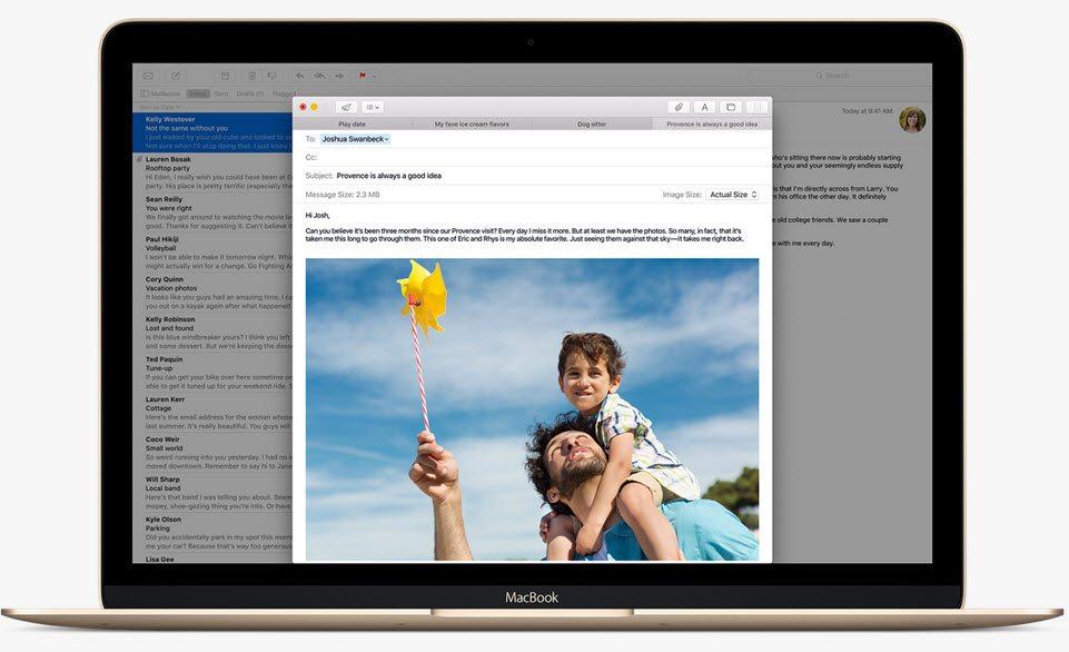 OS X El Capitan pencereler
