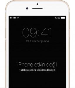 iphone etkin degil