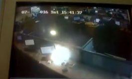 Ofiste Telefonun Patlama Anı Güvenlik Kameralarında