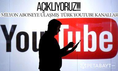 2 Milyon Abone Barajını Geçmiş Türk Youtube Kanalları